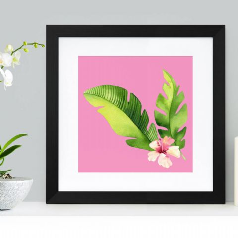Pink Foliage Abstract Art